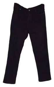 7 For All Mankind Logo Stretchy Skinny Pants Black