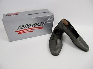 Aerosoles Womens Gun Metal Butter Up Loafer B Gray Flats