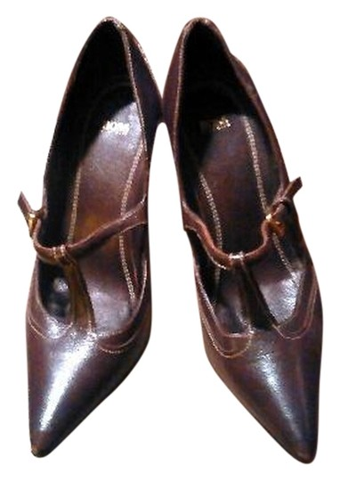 Hugo Boss Leather Brown Pumps