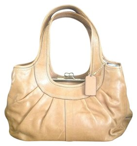 Coach Ergo Pleated Satchel in Glove Tan