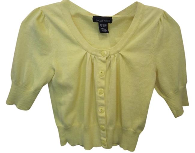 Preload https://item4.tradesy.com/images/sweater-project-medium-button-front-cardigan-yellow-909583-0-0.jpg?width=400&height=650
