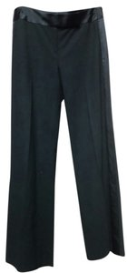 Laundry by Shelli Segal Tuxedo Formal Wide Leg Pants Black