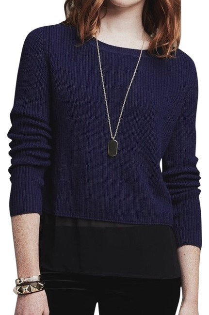 Preload https://img-static.tradesy.com/item/9095890/banana-republic-navy-sheer-panel-sweaterpullover-size-16-xl-plus-0x-0-2-650-650.jpg