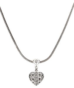 John Hardy john hardy diamond pendant heart necklace
