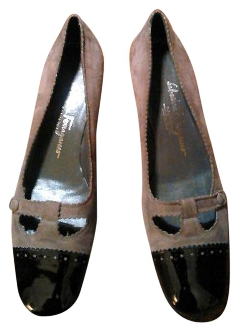 Item - Gray Boutique Suede/Black Patton Leather Flats Size US 7.5 Narrow (Aa, N)