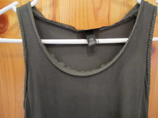 Mossimo Supply Co. Silver Chain Link Moto Inspired Xs S M Top Green
