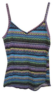 OP Multi Color Print Purple Top Mulit