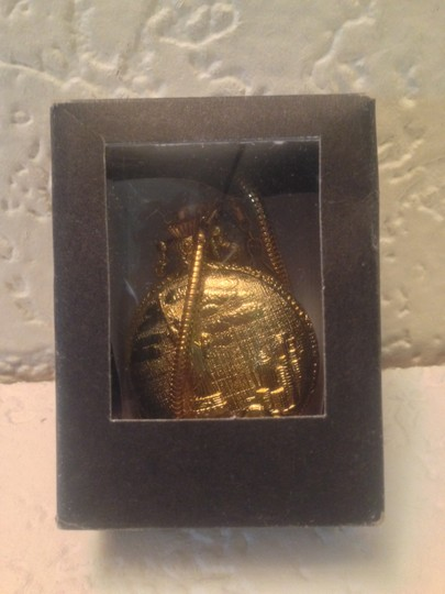 Hanslin Hanslin Gold Tone Pocket Watch with Chain