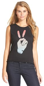 Malibu Native Junior Peace Sign Fingers T Shirt Black