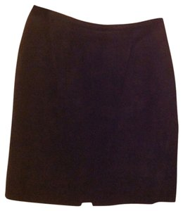 Chia Mini Skirt Black suede