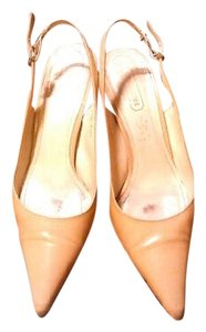Coach Leather Tan Pumps