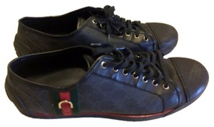 77a67968097 Gucci Black 224778 Mens High Top Lace Up Sneaker Gg Imprime Sneakers.   395.70. US 12. Sold Out. Gucci Black Athletic