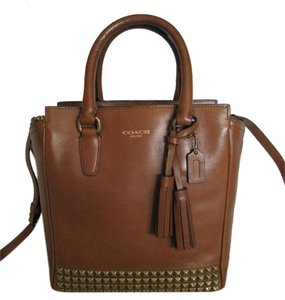 Coach Legacy Studded Leather Mini Tanner Gold Studded Cross Body Bag
