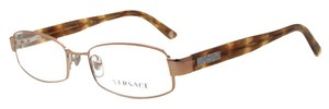 Versace Versace VE1176 1052 Light Brown Full Rim Unisex Rx Eyeglasses