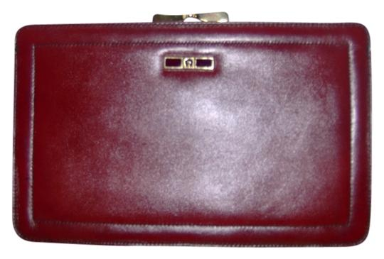 Etienne Aigner Vintage Leather burgandy Clutch