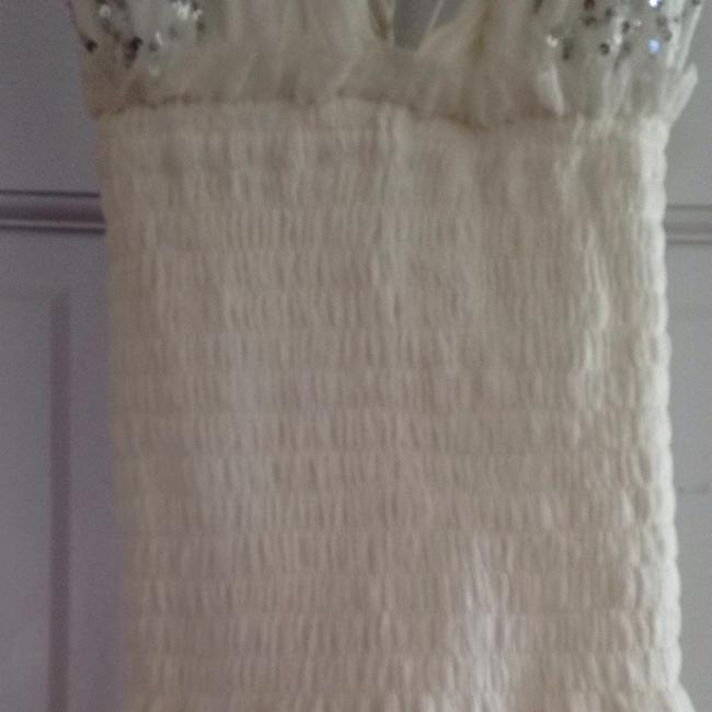 White Maxi Dress by Elissa coleman Sequin Silver Sequin Strappy Wedding Summer