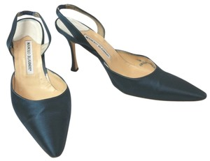 Manolo Blahnik Satin BLUE Formal