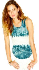 Free People Top TIE DYE BLUE