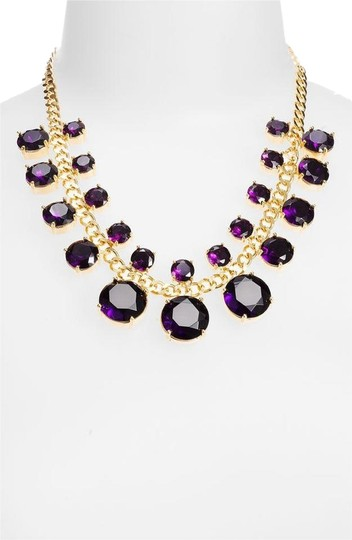 Preload https://img-static.tradesy.com/item/9097840/kate-spade-12k-gold-and-purple-faceted-gems-crystal-cort-statement-exquisite-simple-lines-create-a-m-0-3-540-540.jpg