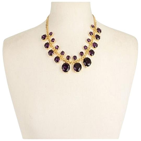 Kate Spade Kate Spade Crystal Cort Purple Statement Necklace NWT Exquisite Simple Lines Create A Modern Classic!