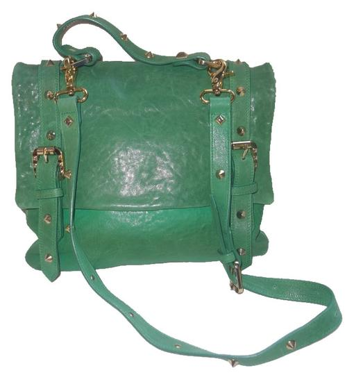 Preload https://img-static.tradesy.com/item/9098020/balmain-pierre-studded-doctor-purse-green-leather-messenger-bag-0-5-540-540.jpg