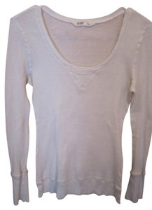 Old Navy Waffle Thermal Longsleeve T Shirt Medium Long Banded Waist Sleeve Scoop Round Neck Tunic