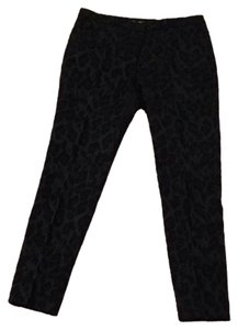 Zara Straight Pants Black and Navy