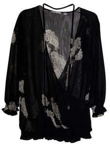 New York & Company Top Black Sheer