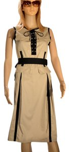 Dolce & Gabbana short dress Tan, Black M3725 on Tradesy