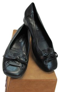 Renzo Fontanelli New Size 7.00 M Made In Italy Black Flats