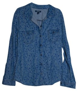 Old Navy Button Down Shirt Denim with stars
