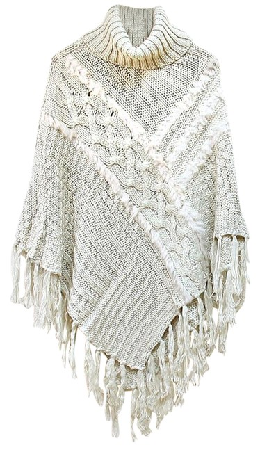 Preload https://item4.tradesy.com/images/ivory-off-white-fur-trimmed-fringe-accent-turtleneck-ponchocape-size-os-one-size-9098593-0-6.jpg?width=400&height=650