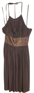 BCBGMAXAZRIA short dress Brown Beaded on Tradesy