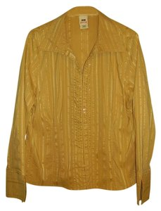 Faded Glory Button Down Shirt gold