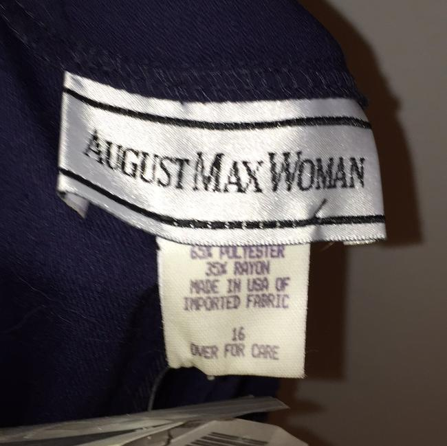 August Max Woman Straight Pants Dark navy (42)