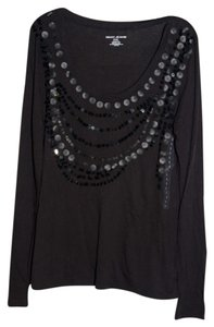 DKNY T Shirt Black Sequins