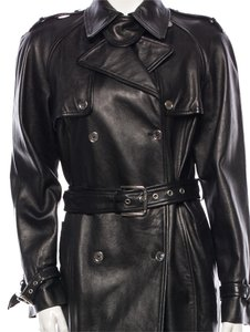 Dolce&Gabbana Lambskin Leather Trench Coat
