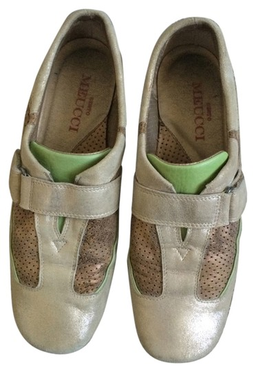 Sesto Meucci Italian Leather Fashion Gold/green Athletic