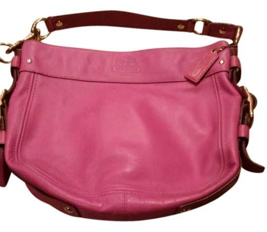Preload https://img-static.tradesy.com/item/9099469/coach-berry-pink-leather-shoulder-bag-0-2-540-540.jpg