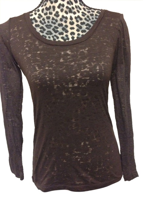 Preload https://item1.tradesy.com/images/ambiance-apparel-brown-burnout-sweaterpullover-size-6-s-9099625-0-2.jpg?width=400&height=650