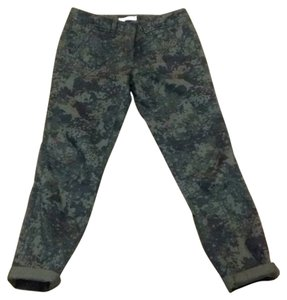 Ann Taylor LOFT Camouflage Camo Casual Straight Pants green