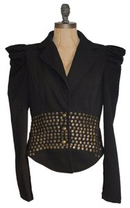 Double Zero Beaded Structured Motorcycle Jacket