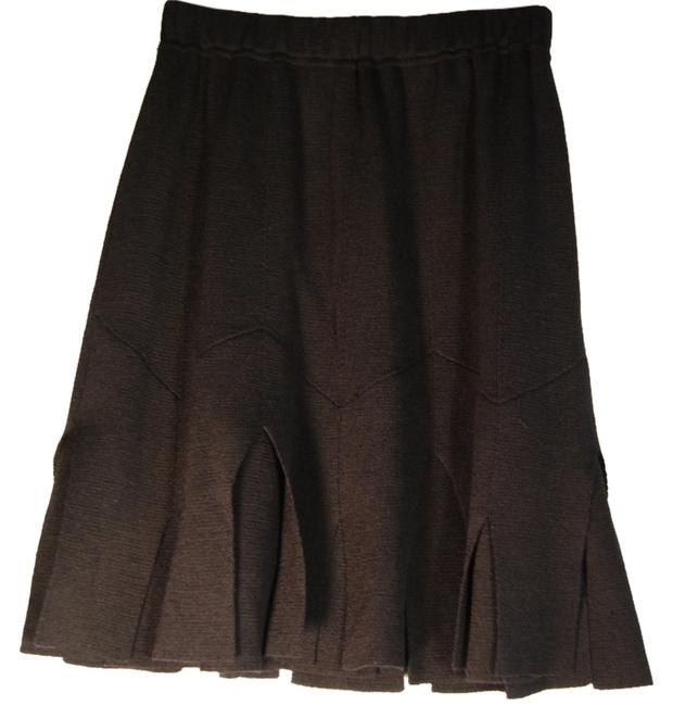 St. John Carwash Knit Skirt Black
