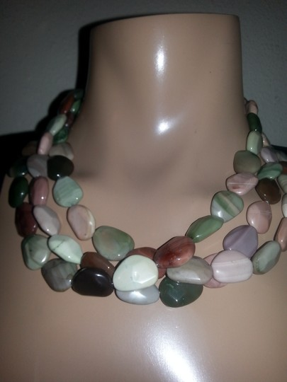 Other .925 Sterling Silver Heavy Stone 23` Necklace