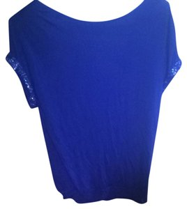 Forever 21 21 Shirt Women Going Out Shirt Small Top Blue