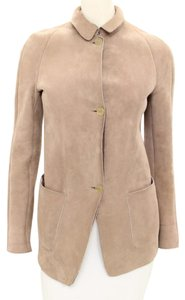 Burberry Prorsum Suede Shearling Coat