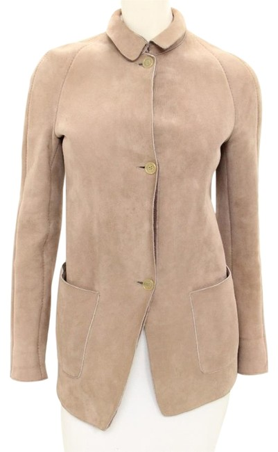 Preload https://item2.tradesy.com/images/burberry-prorsum-taupe-suede-and-shearling-lined-button-up-jacket-size-4-s-9100351-0-2.jpg?width=400&height=650