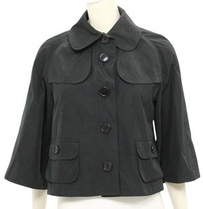 Burberry London Burberry London Black Nylon Cropped Jacket Size US 6
