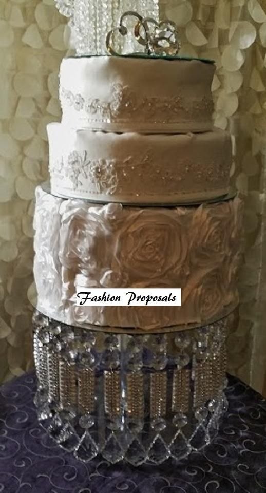 Crystal and Silver Acrylic Bling Stand Free Shipping Cake Topper ...