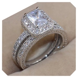 Other 2PC Antique Style Wedding Ring Set 5 STARS ACROSS THE BOARD MORE THAN 30 SETS SOLD